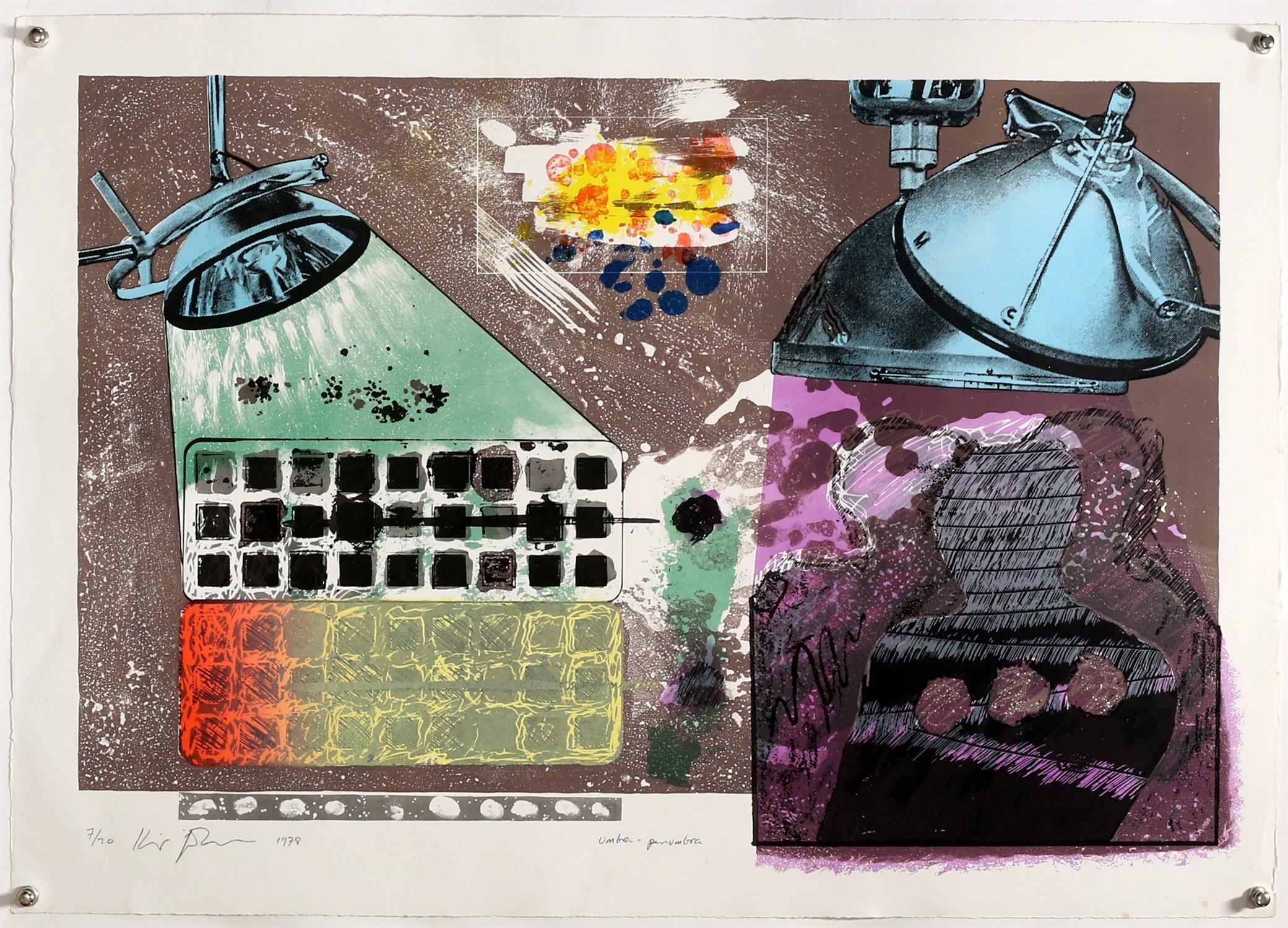 Kip Gresham (British, b.1951). Two large screenprints: 'Umbra-Penumbra' (1978). Signed, - Image 4 of 4