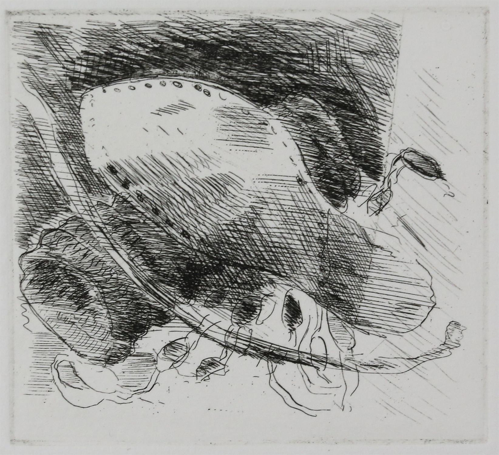 Paul Coldwell (British, b.1952). Three etchings from the 'The Studio' folio, 1988, each signed, - Image 2 of 11