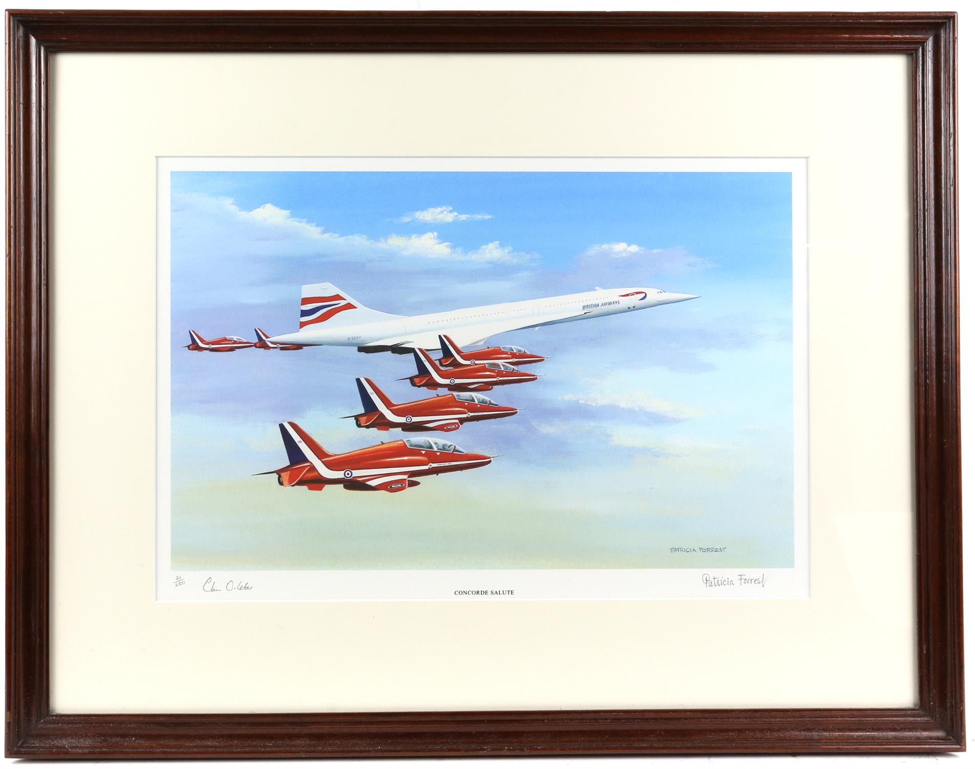 Patricia Forrest (20th Century). 'Concorde Salute', limited edition print, titled, - Image 2 of 4
