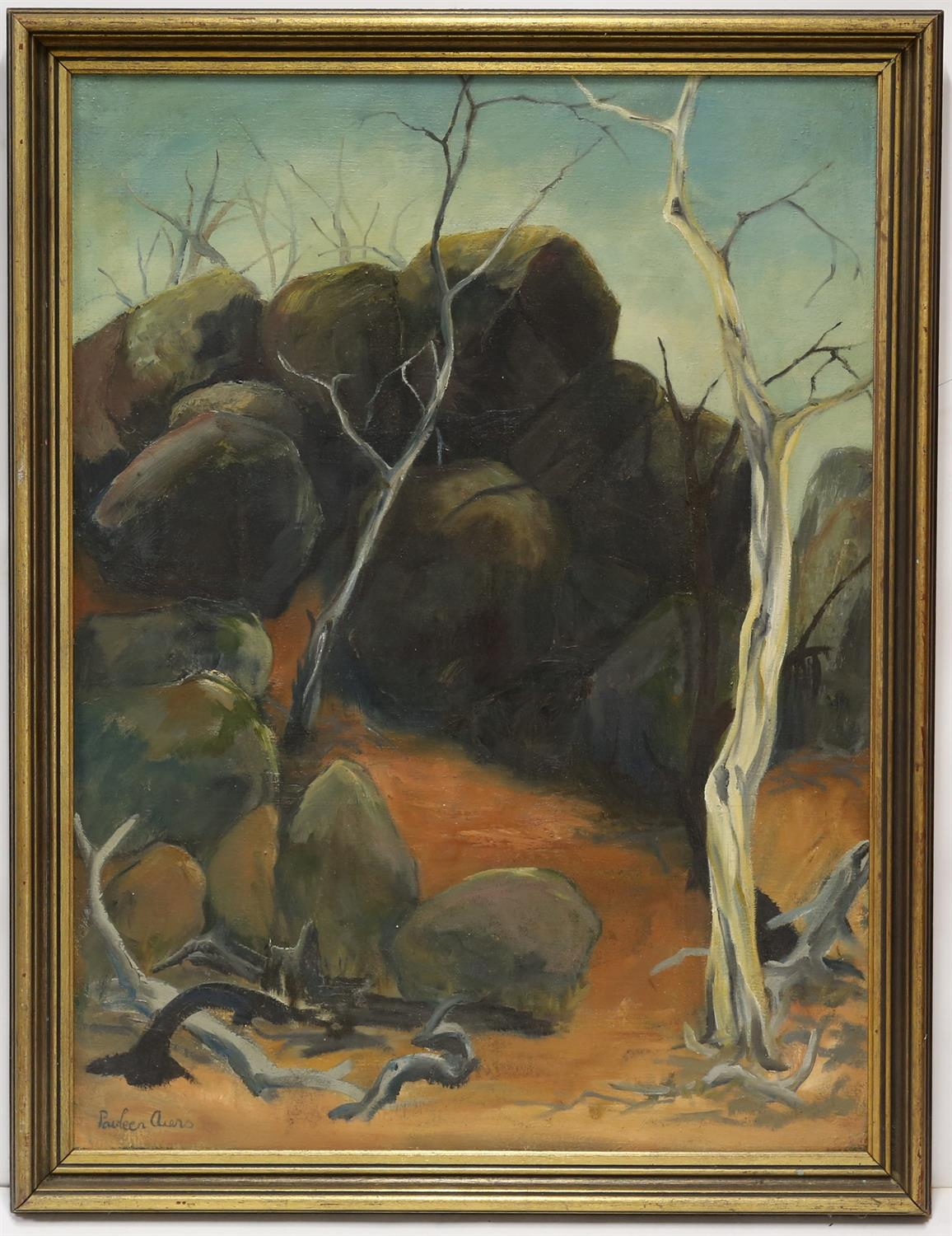 Pauleen Aiers (20th century) Rocky Gully, Gudgenby NSW. Oil on canvas, signed lower left, - Image 2 of 3
