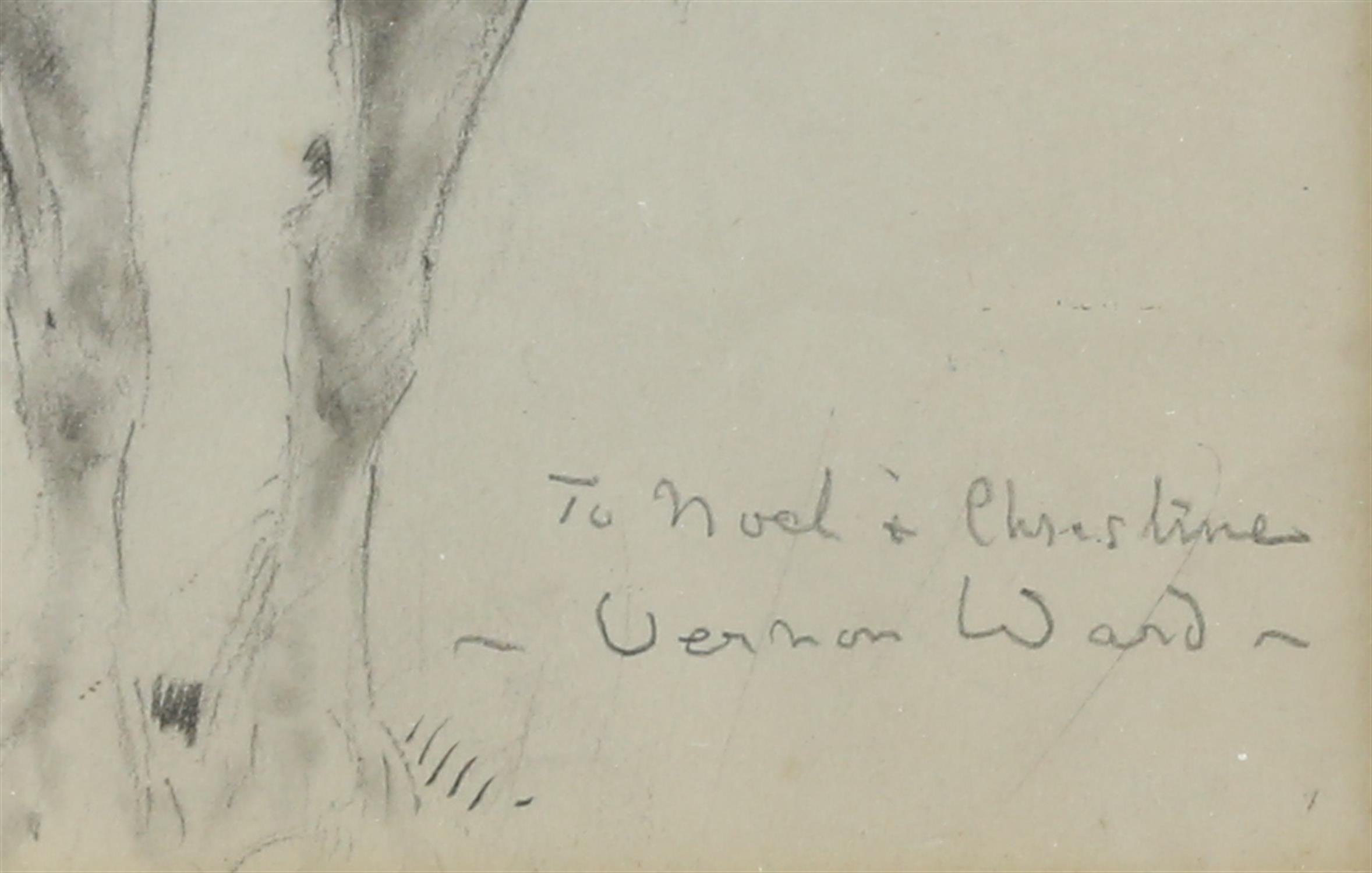 Vernon de Beauvoir Ward (British, 1905-1985). Portrait of a Heavy Horse. Dedication inscription and - Image 3 of 3