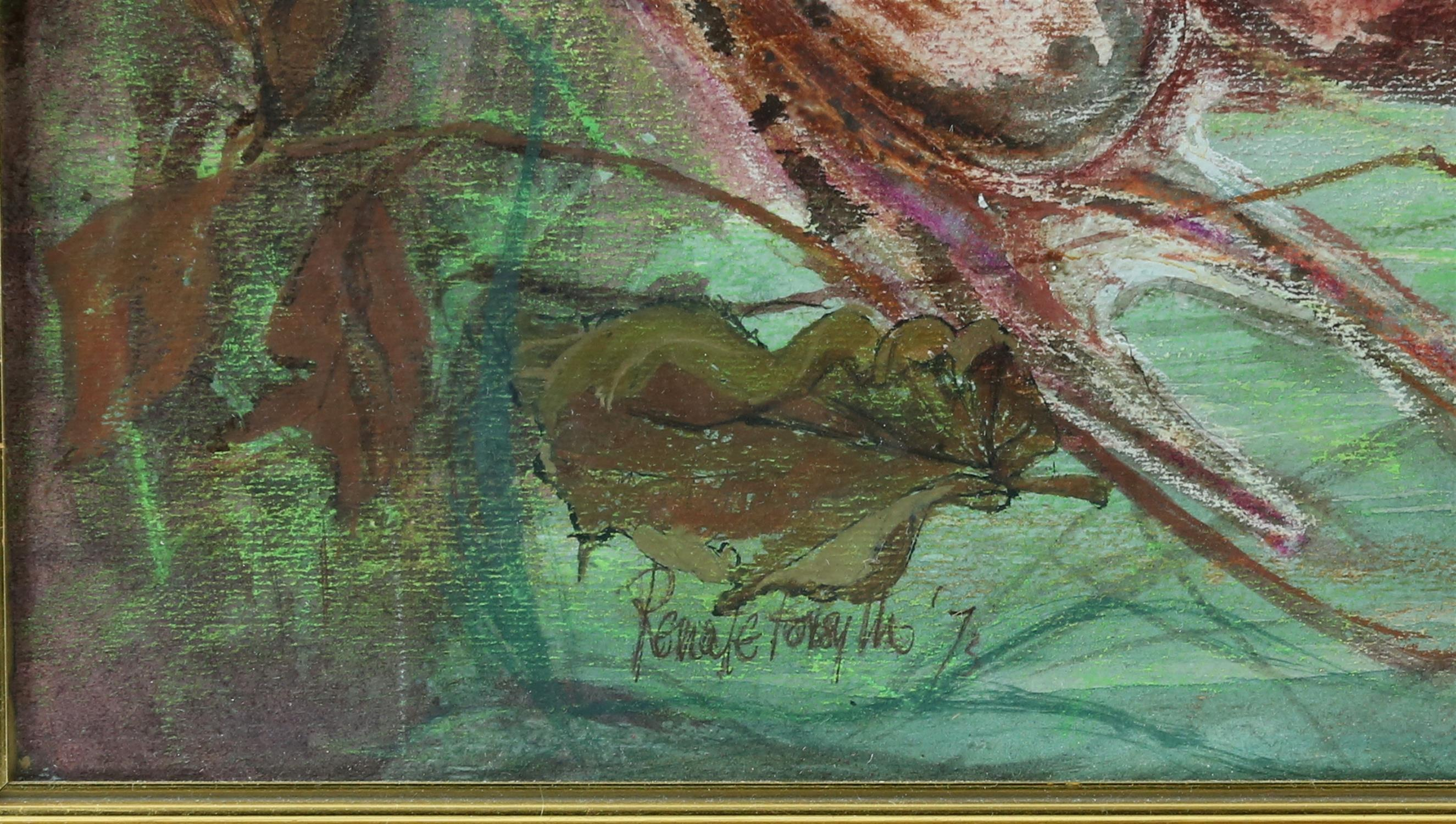Renate Forsyth, 'Frogs', wax and wash on paper, signed and dated '72 lower left, 57 x 76cm, - Image 3 of 6