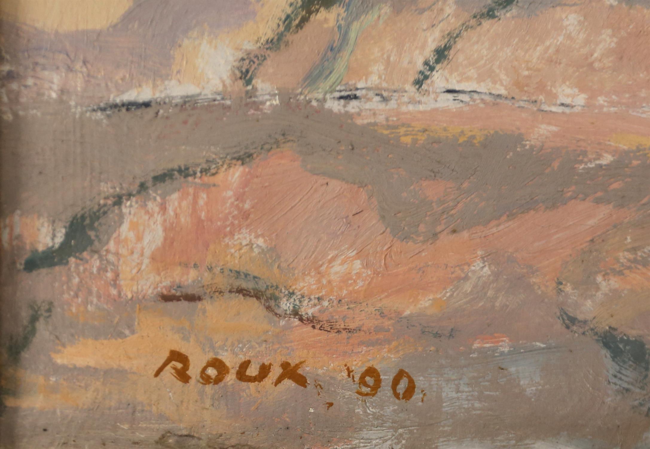 Francois Roux (South African, b. 1927). Cederberg, mountainous landscape. Oil on canvas, - Image 3 of 3