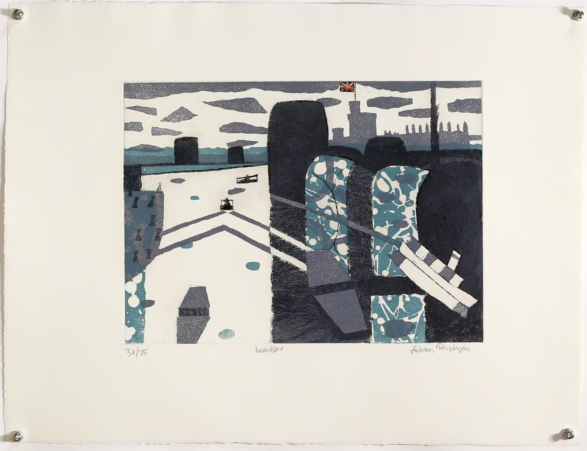 § Julian Trevelyan RA (British, 1910-1988). 'Windsor' (1969). Soft ground etching. - Image 2 of 2