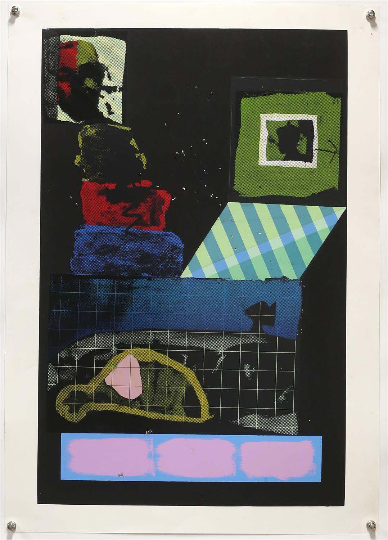 Kip Gresham (British, b.1951). Two large screenprints: 'Umbra-Penumbra' (1978). Signed, - Image 2 of 4