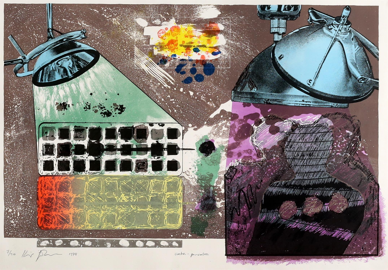 Kip Gresham (British, b.1951). Two large screenprints: 'Umbra-Penumbra' (1978). Signed, - Image 3 of 4