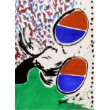 Kip Gresham (British, b.1951). Original abstract painting, signed lower left, unframed,
