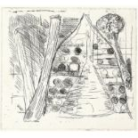 Paul Coldwell (British, b.1952). Three etchings from the 'The Studio' folio, 1988, each signed,