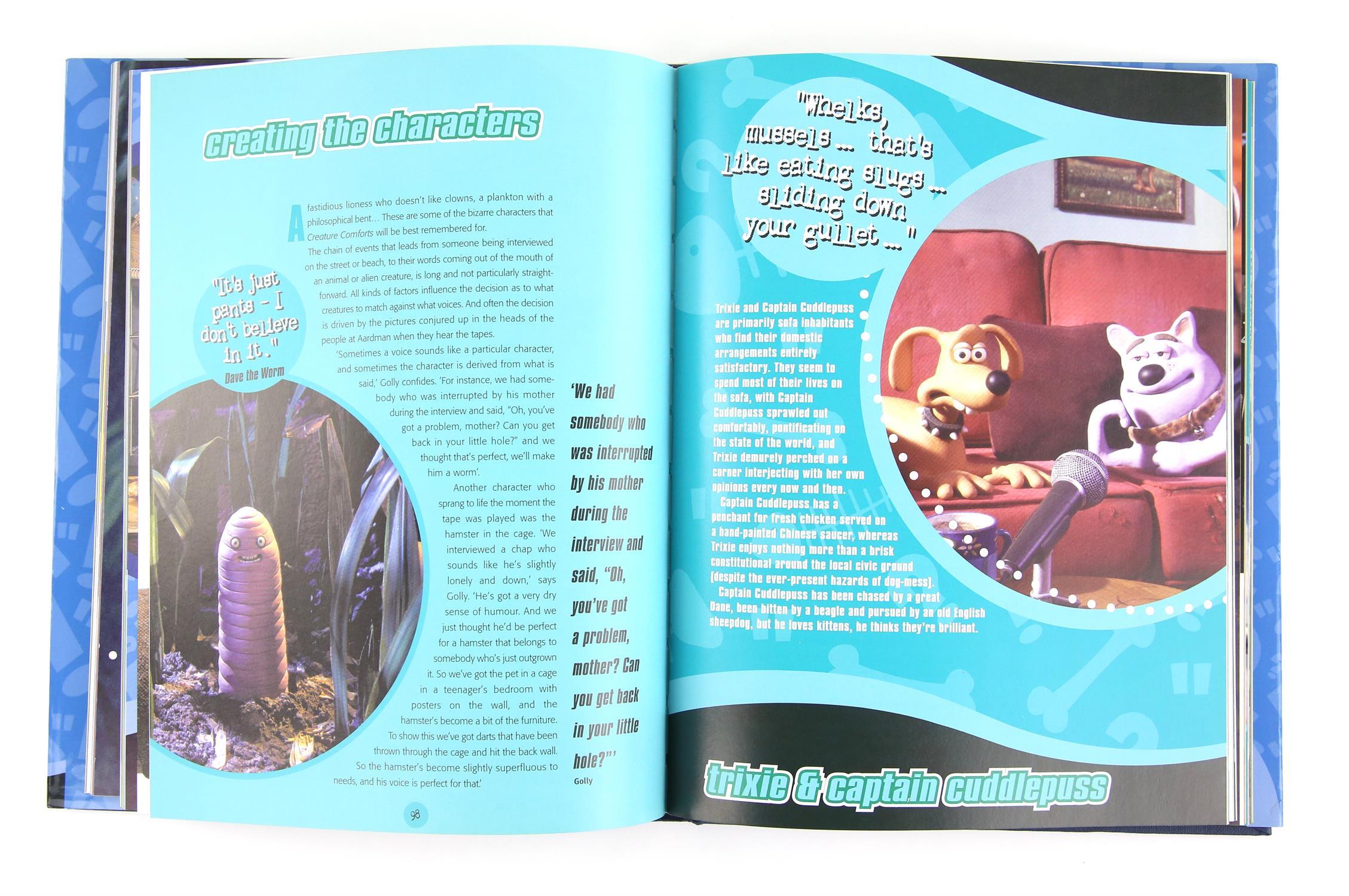 Creature Comforts - Aardman Animations - 'Creating Creature Comforts' - 2003 - Hardback book signed - Image 3 of 3