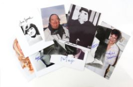 Autographs - Collection of signed 18 photographs and a leaflet of various TV and film actors