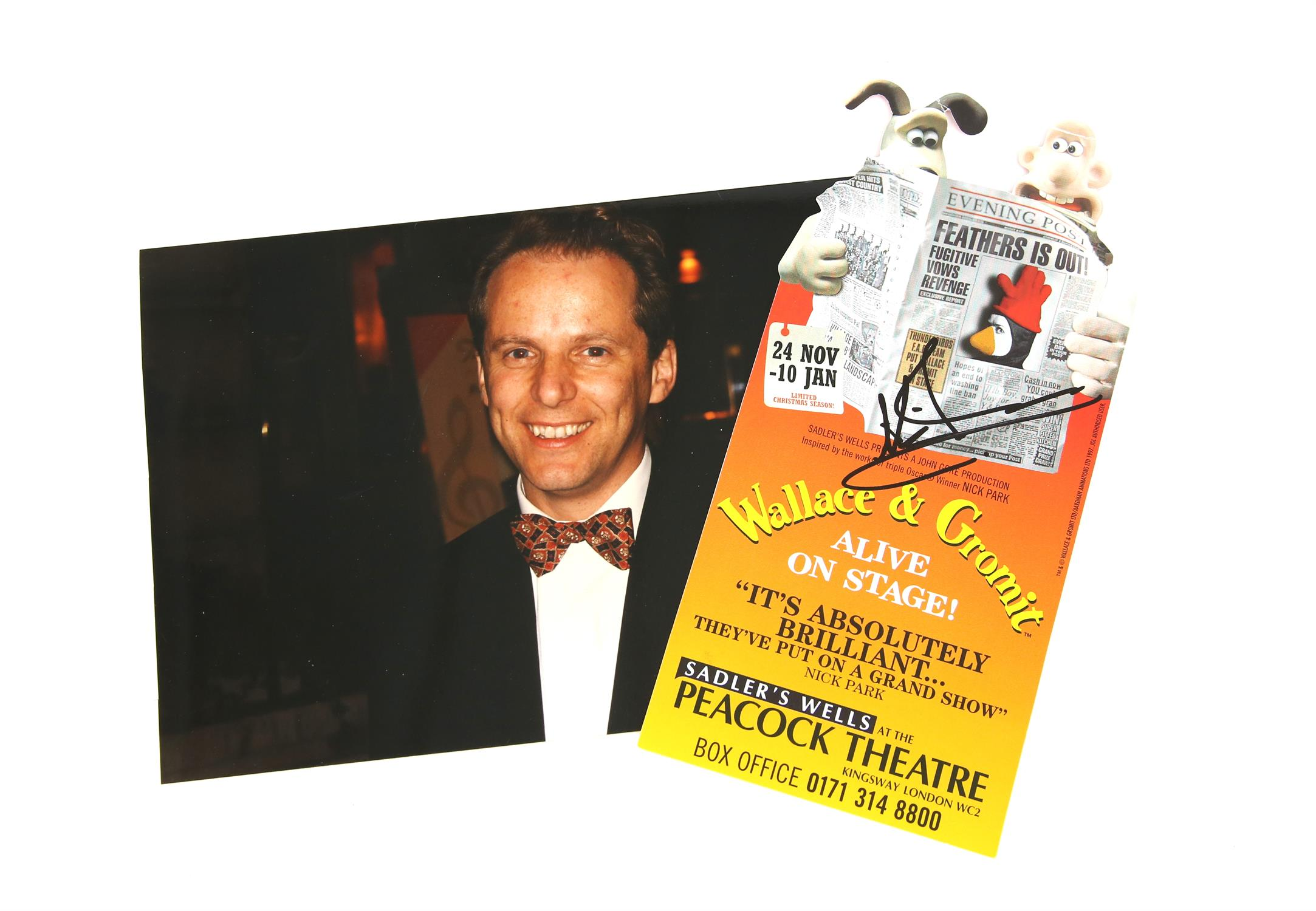 Nick Park - Aardman Animations 'Wallace & Gromit Alive On Stage!' - autographed leaflet for the - Image 3 of 3