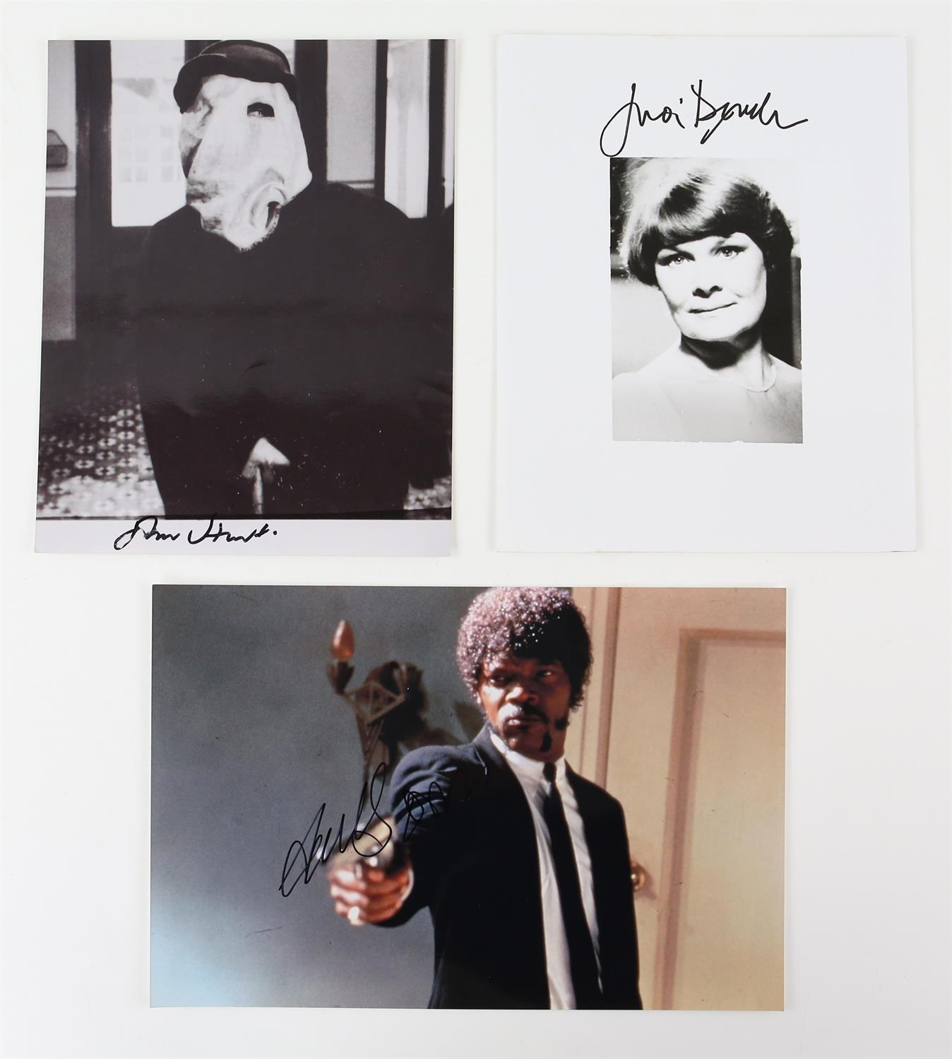 Autographs - Collection of signed 18 photographs and a leaflet of various TV and film actors - Image 2 of 9