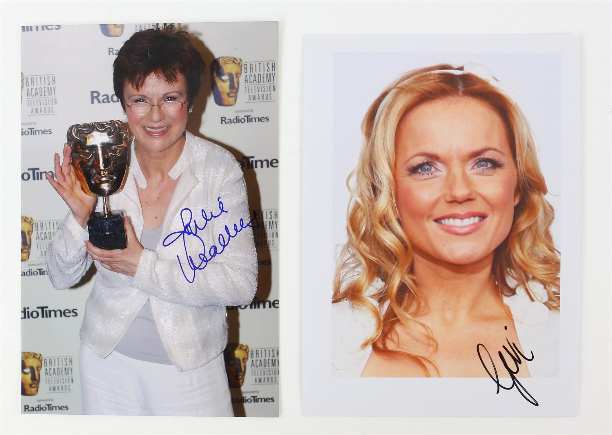Autographs - Collection of signed 18 photographs and a leaflet of various TV and film actors - Image 6 of 9