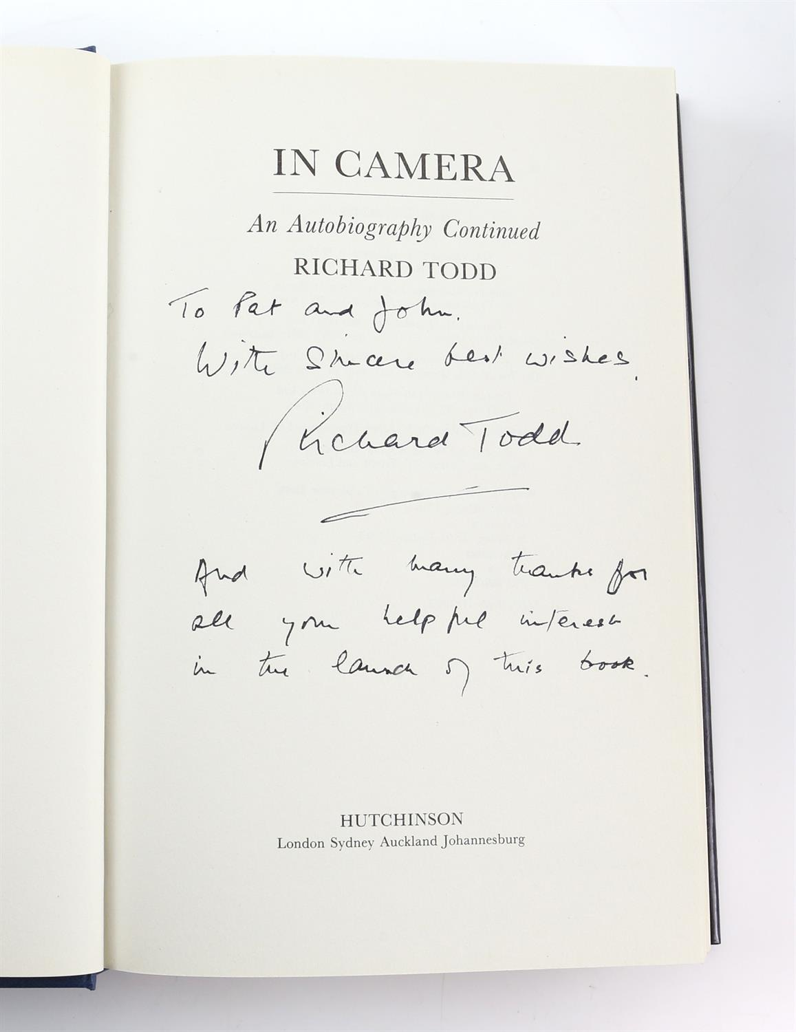 9 autographed books signed by Lauren Bacall, Richard Todd, Michael Palin, Leslie Caron, - Image 6 of 10