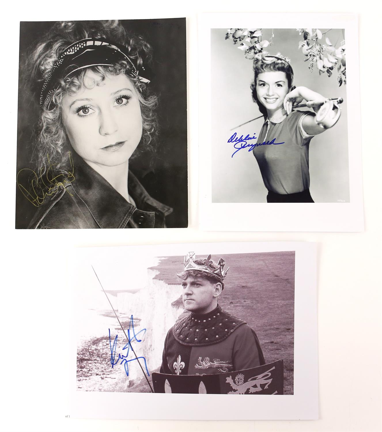 Autographs - Collection of signed 18 photographs and a leaflet of various TV and film actors - Image 5 of 9