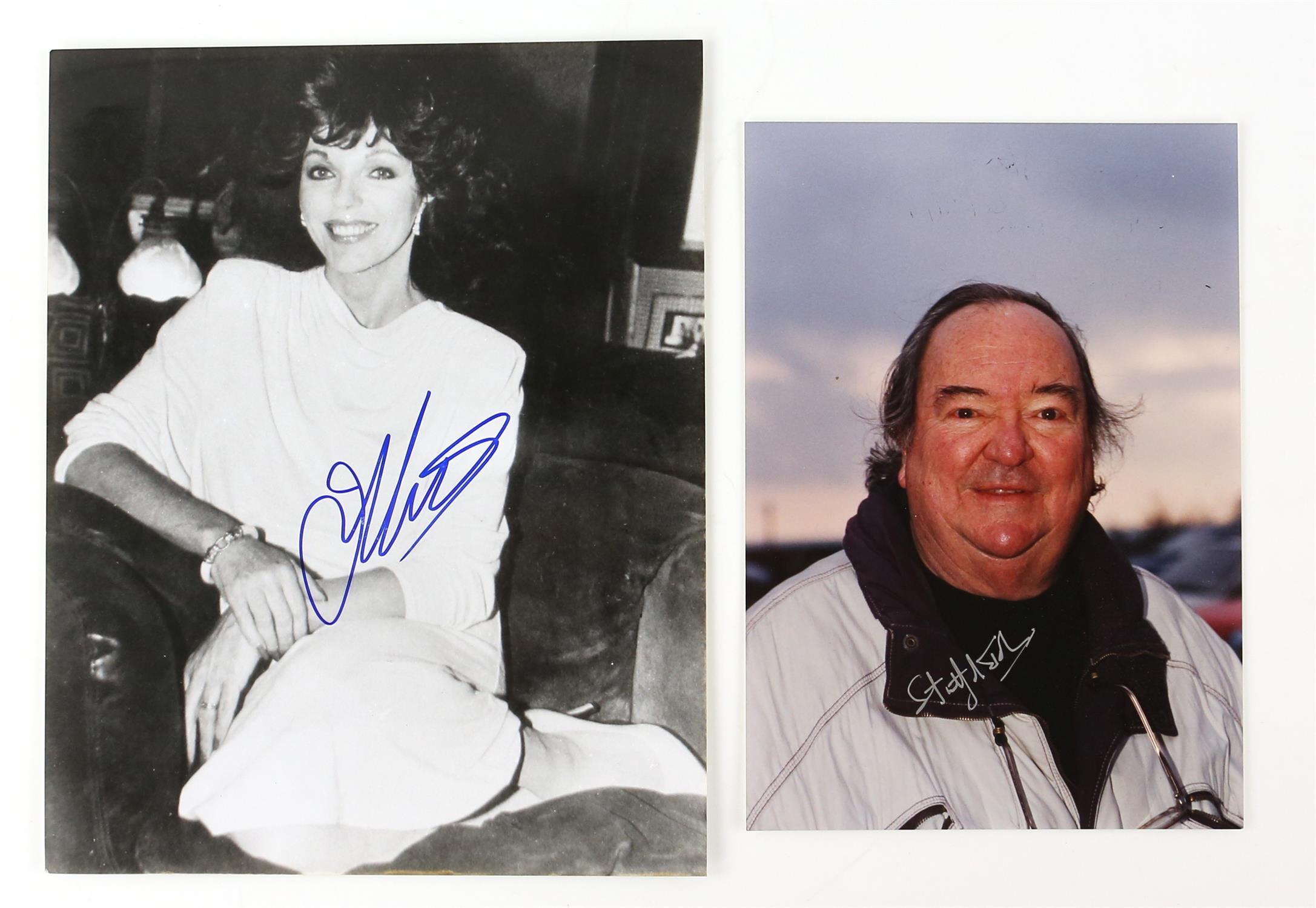Autographs - Collection of signed 18 photographs and a leaflet of various TV and film actors - Image 7 of 9