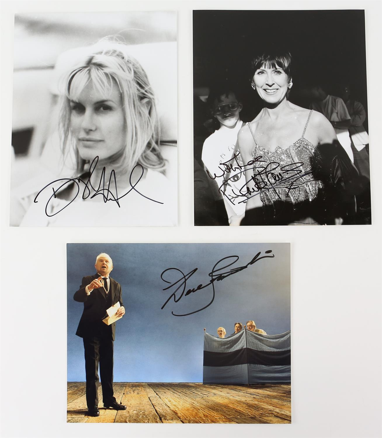 Autographs - Collection of signed 18 photographs and a leaflet of various TV and film actors - Image 3 of 9