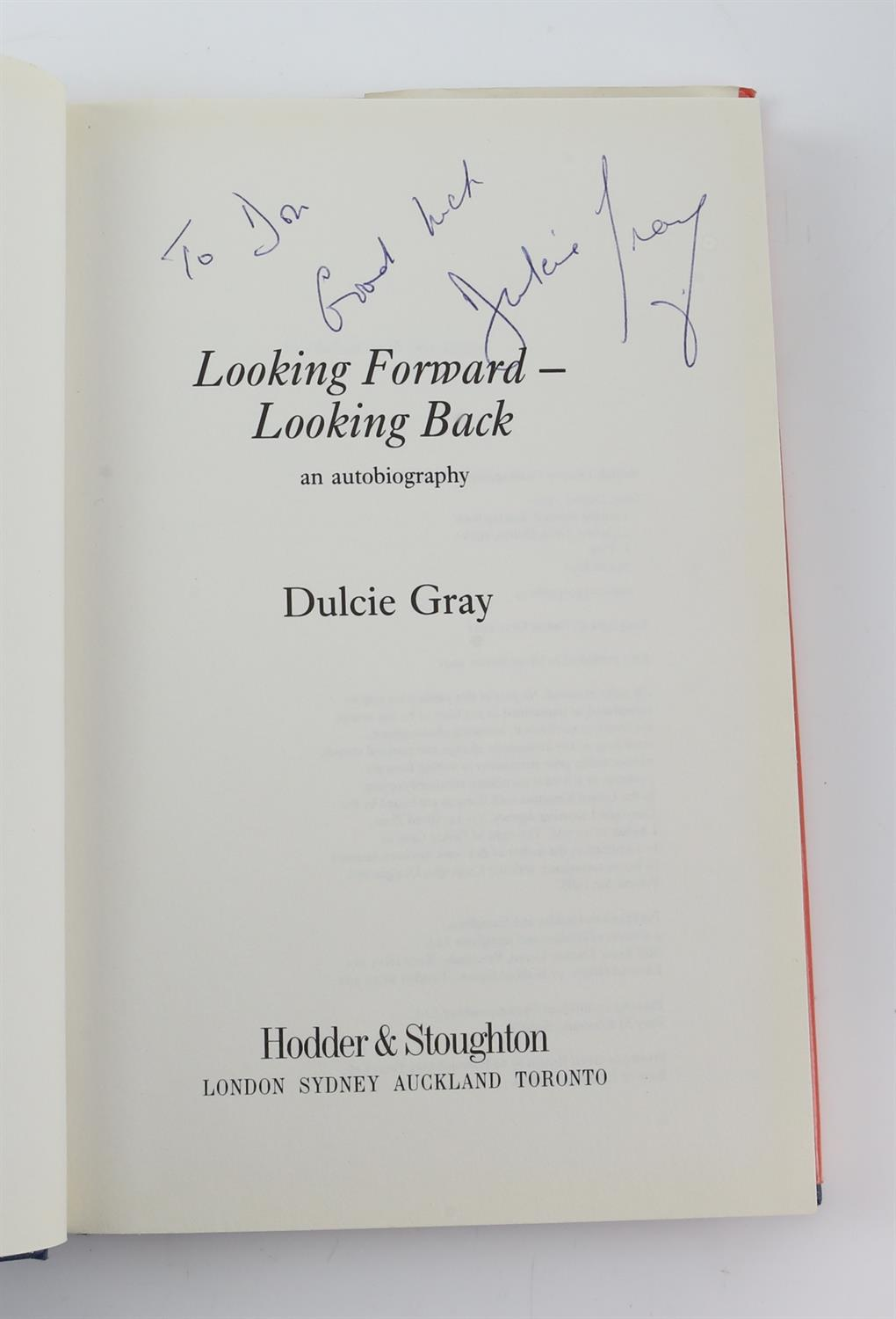 9 autographed books signed by Lauren Bacall, Richard Todd, Michael Palin, Leslie Caron, - Image 8 of 10