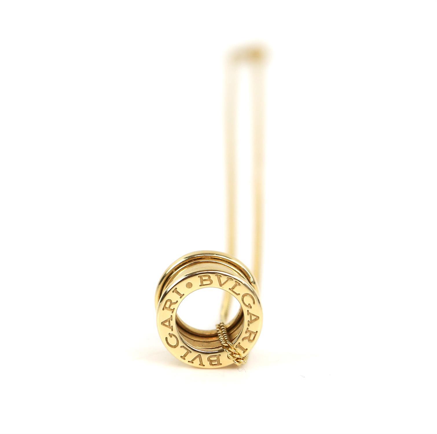 Bvlgari B.Zero1 small round pendant, in 18 ct yellow gold, marked Made in Italy 750 with Bvlgari