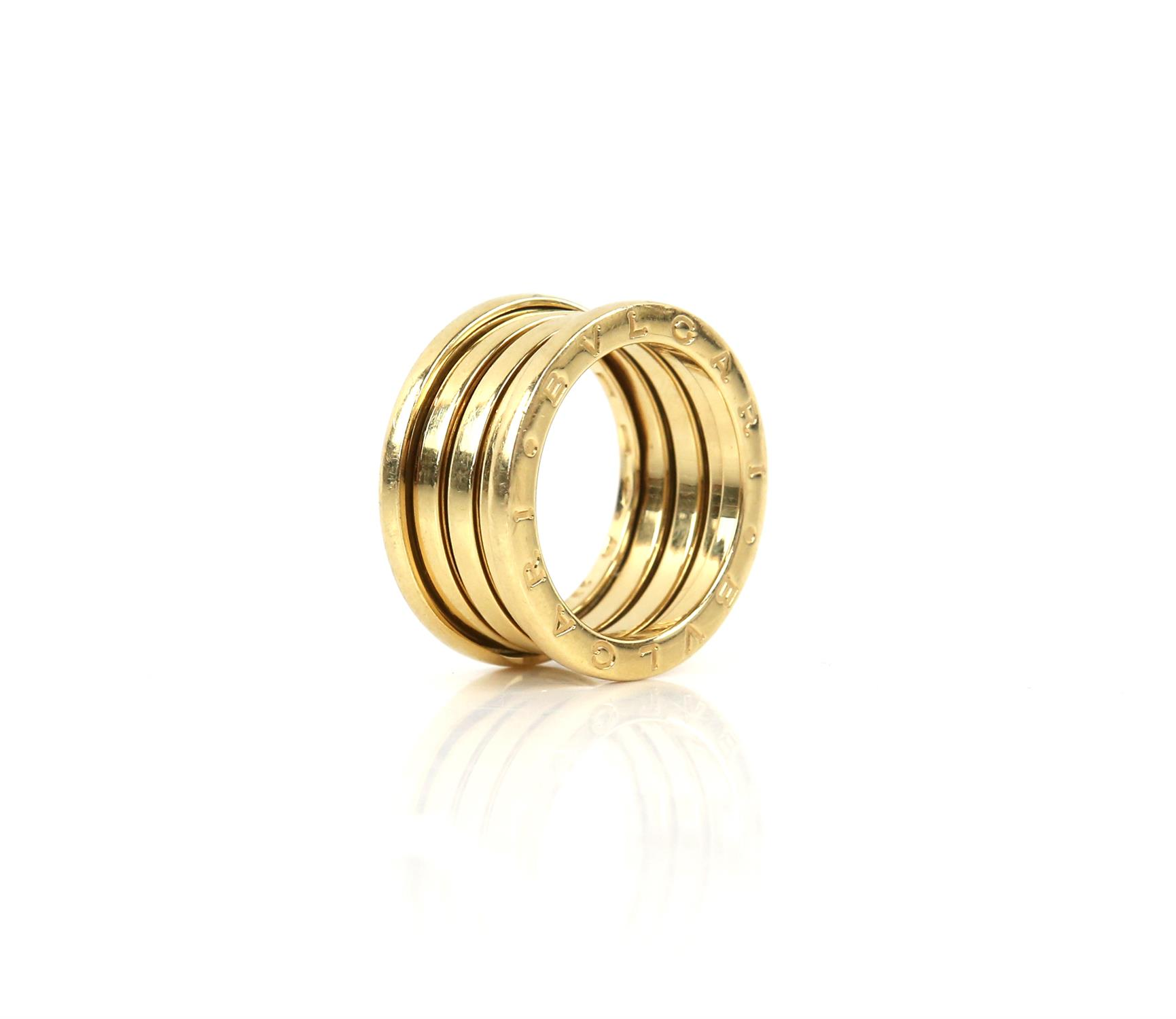 Bvlgari B.Zero1 four band ring, inside band marked Made in Italy 750, with Bvlgari makers mark, - Image 3 of 6