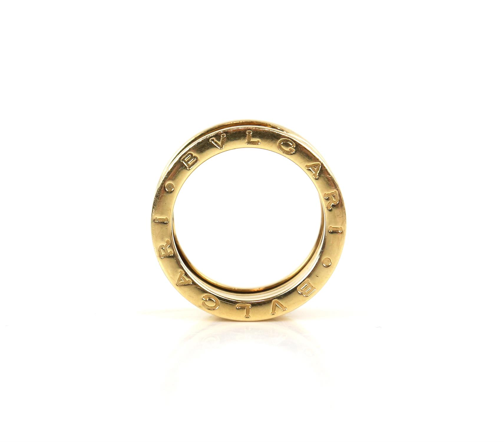 Bvlgari B.Zero1 four band ring, inside band marked Made in Italy 750, with Bvlgari makers mark, - Image 2 of 6