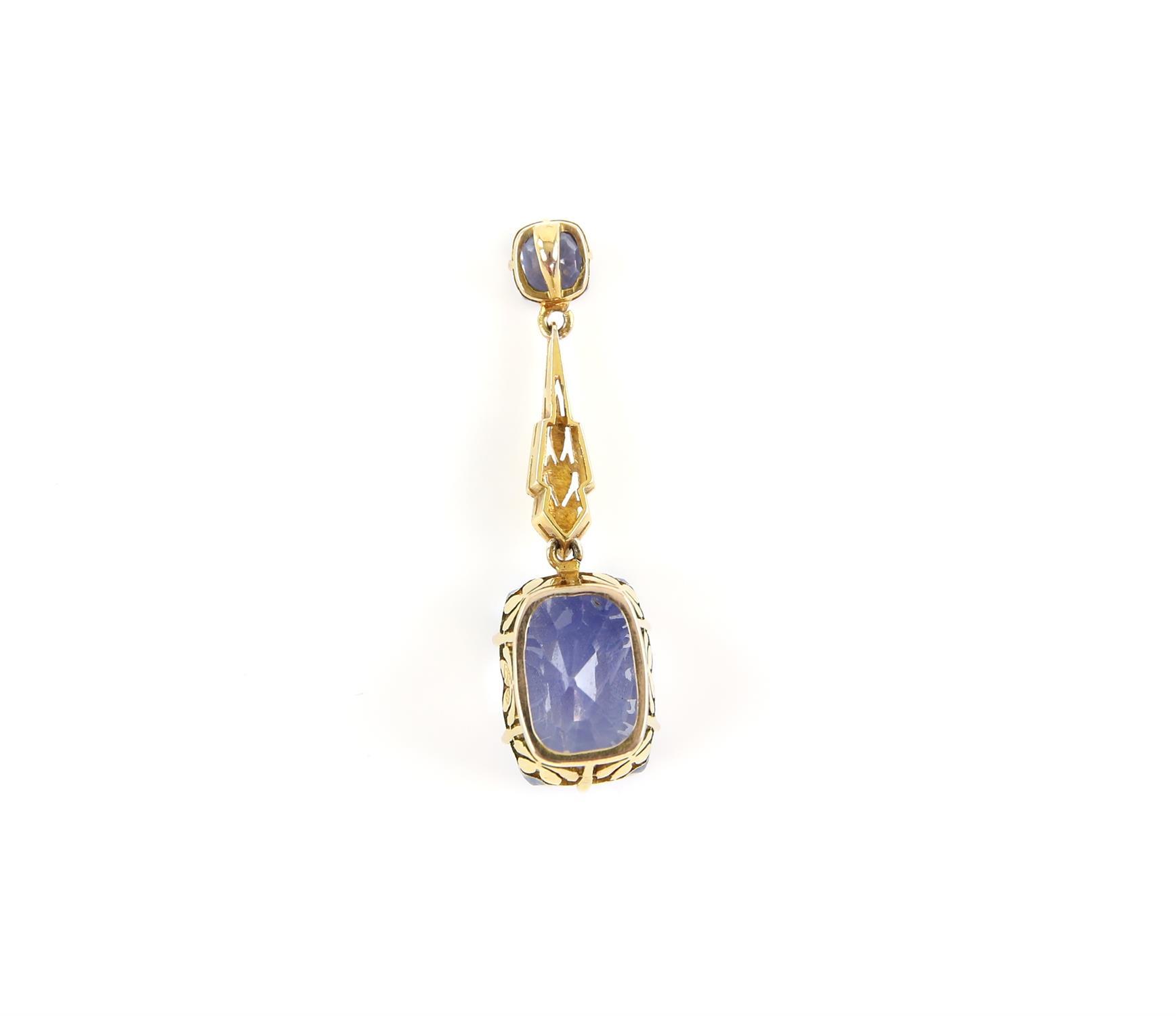 Sapphire drop pendant, principal light blue sapphire, estimated weight 12.99 carats, - Image 2 of 8