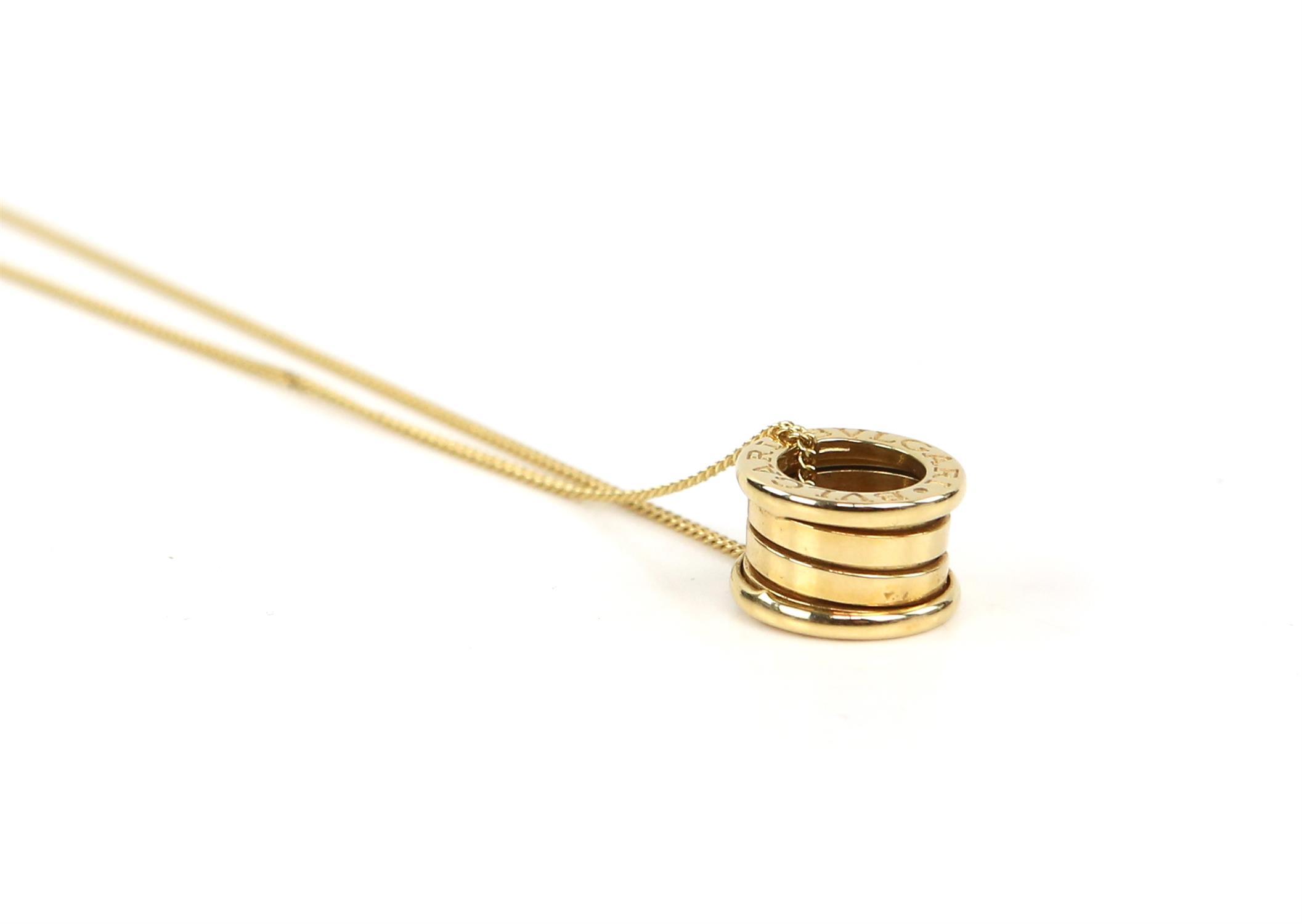 Bvlgari B.Zero1 small round pendant, in 18 ct yellow gold, marked Made in Italy 750 with Bvlgari - Image 3 of 5