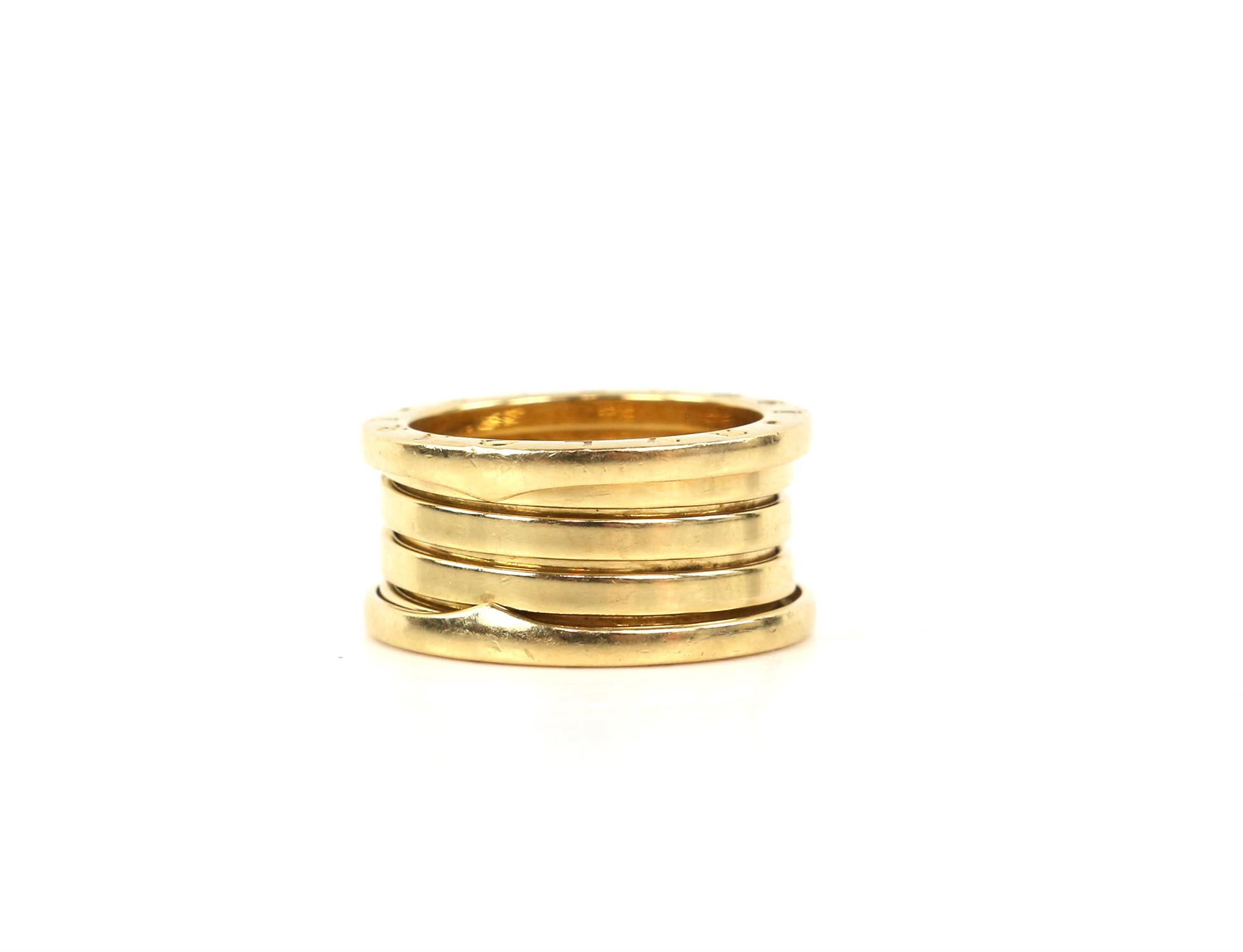 Bvlgari B.Zero1 four band ring, inside band marked Made in Italy 750, with Bvlgari makers mark, - Image 5 of 6