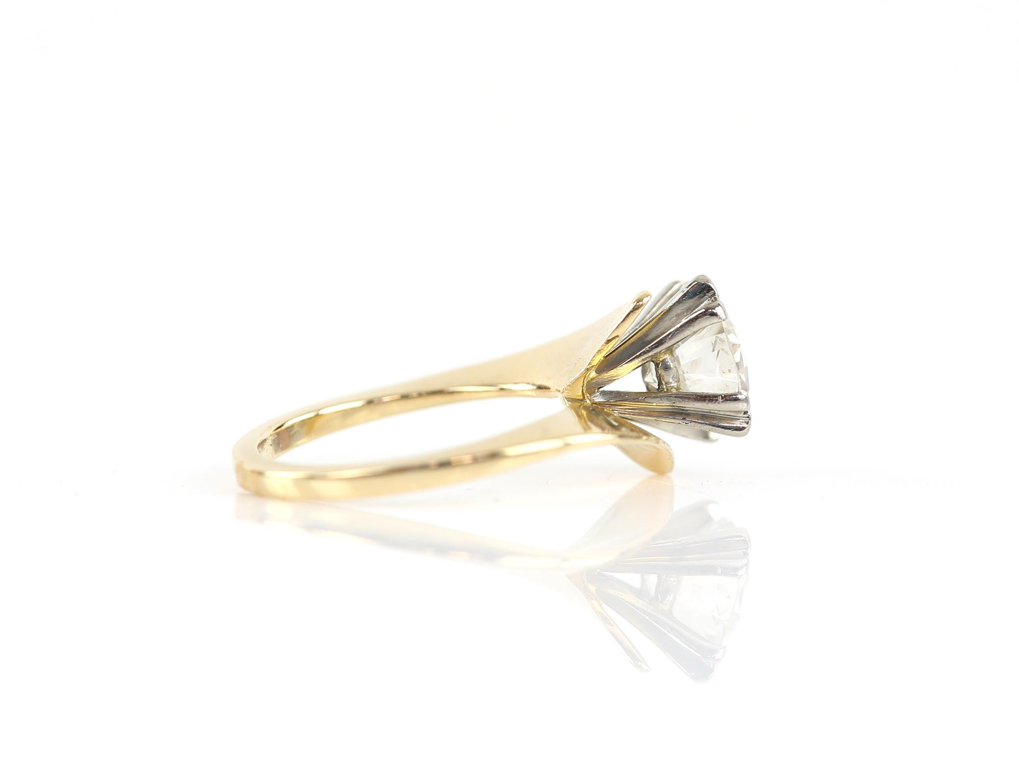 Single stone diamond ring, round brilliant cut diamond weighing an estimated 2.02 carats, - Image 3 of 6