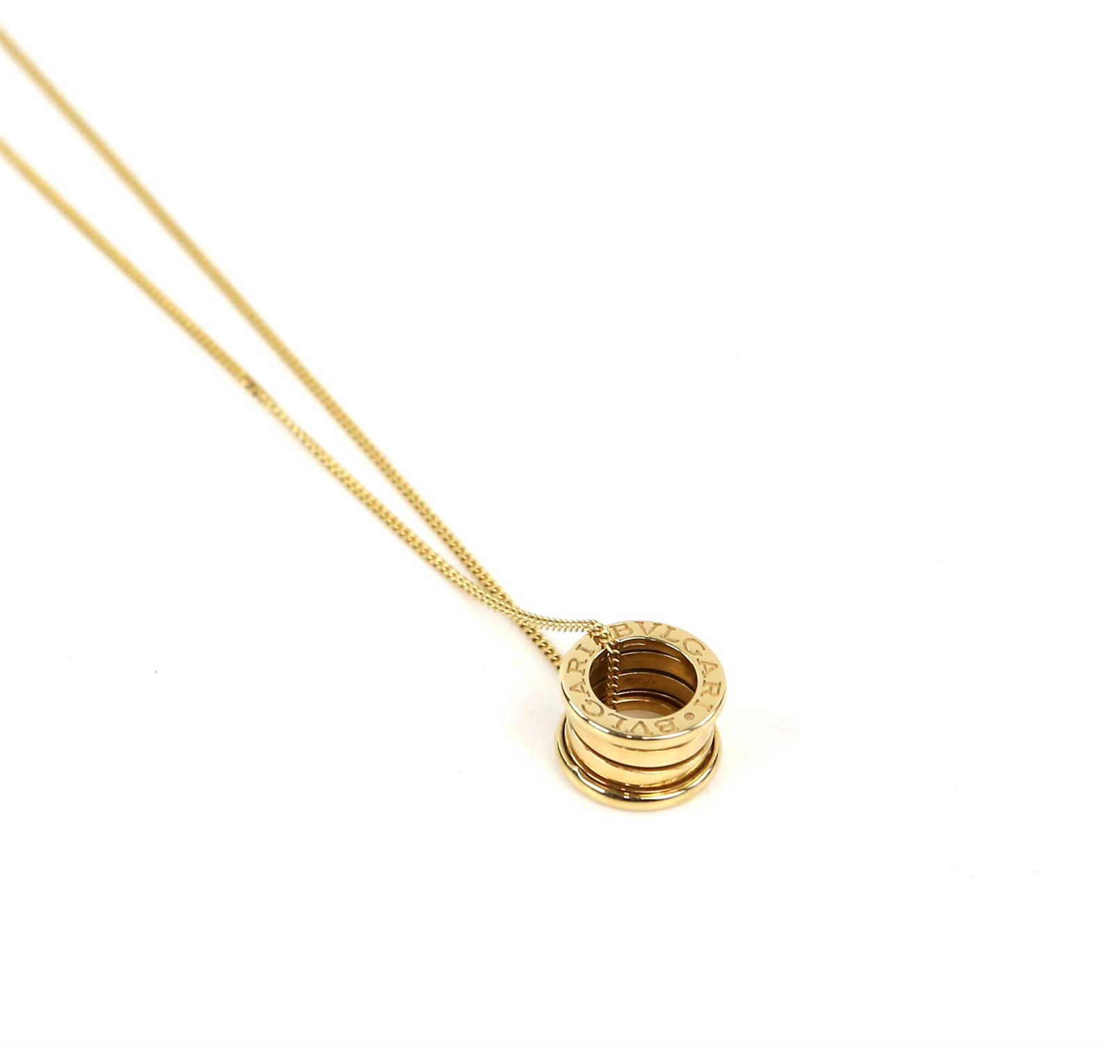 Bvlgari B.Zero1 small round pendant, in 18 ct yellow gold, marked Made in Italy 750 with Bvlgari - Image 2 of 5