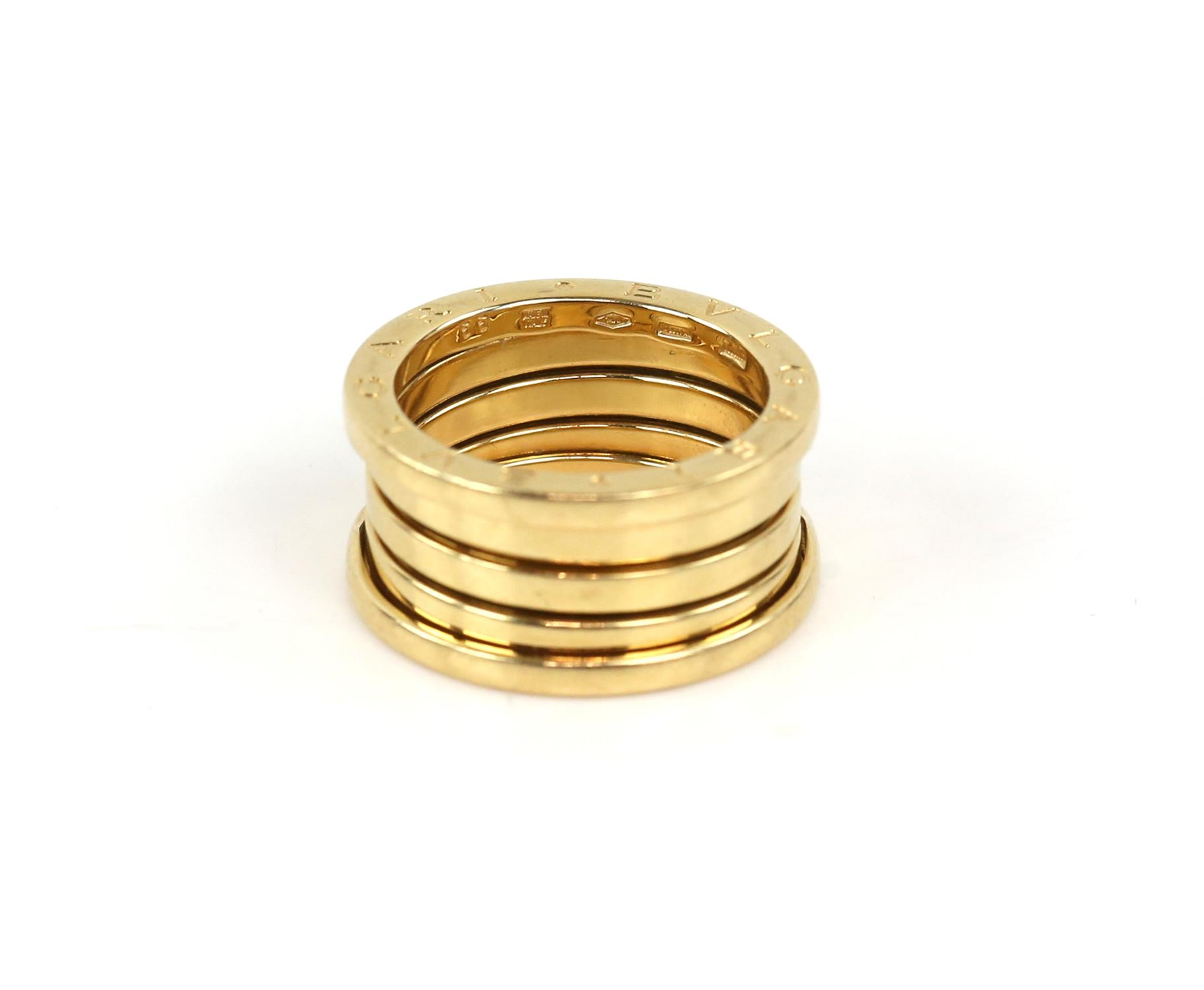 Bvlgari B.Zero1 four band ring, inside band marked Made in Italy 750, with Bvlgari makers mark, - Image 4 of 6