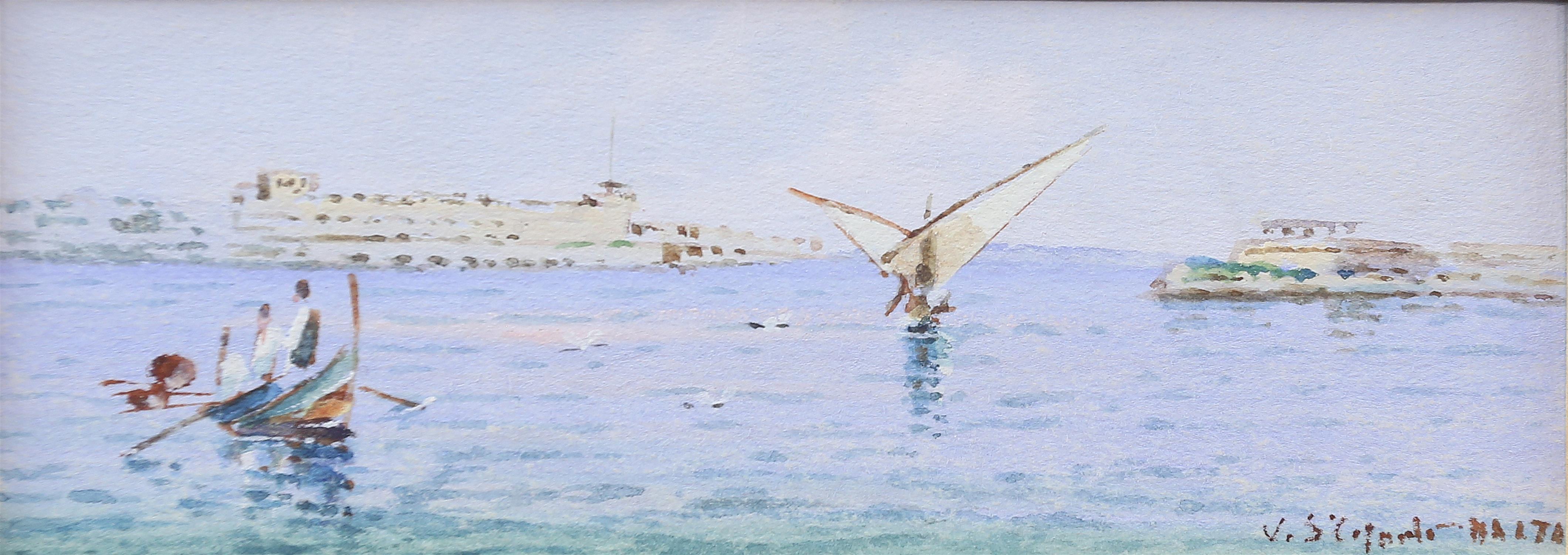 AMENDED DESCRIPTION and ESTIMATE Vincenzo Desposito (Maltese 20th century), scene of Valetta