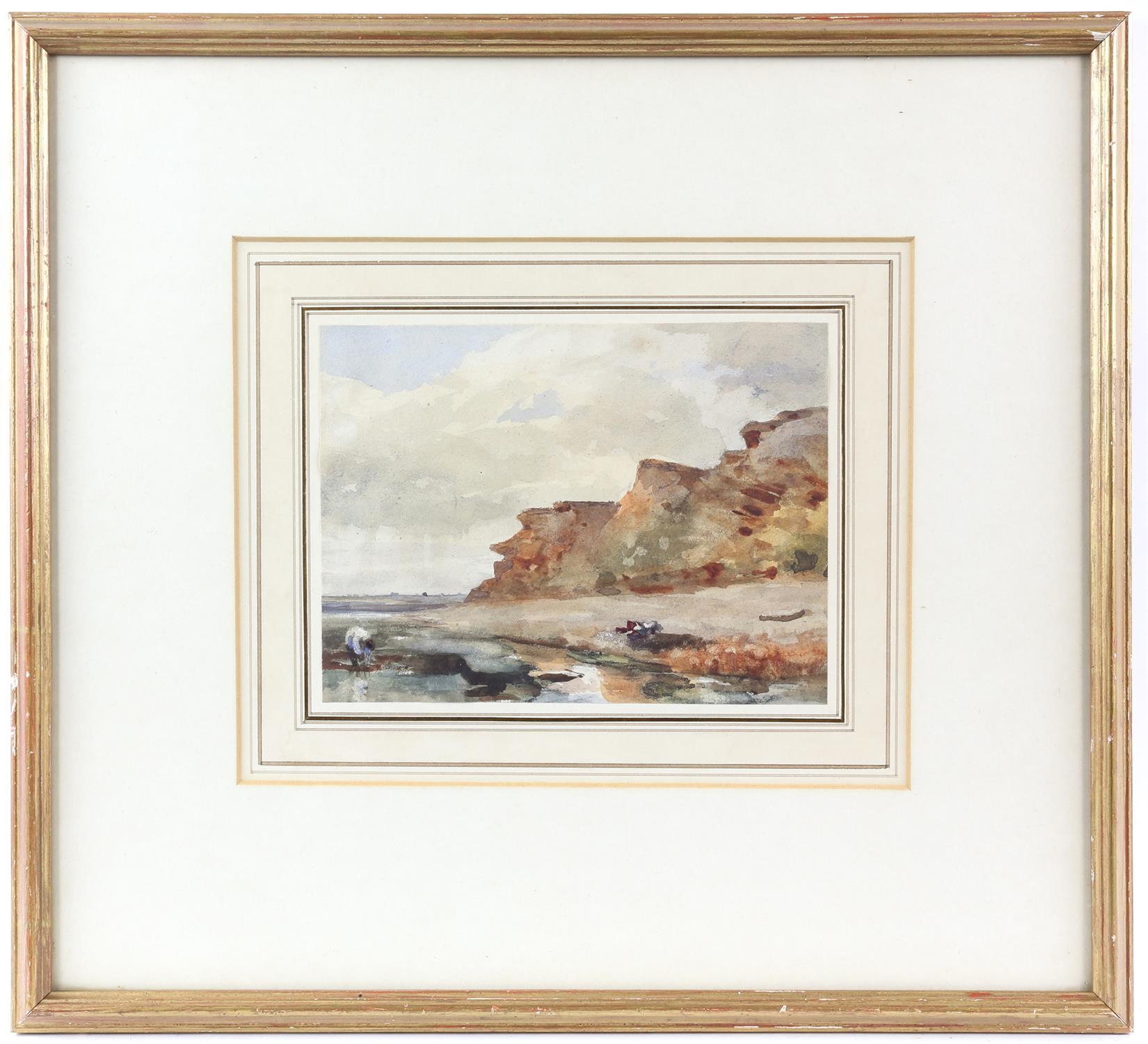 Thomas Churchyard (British, 1798-1865), Bawdsey Cliff, Suffolk. Watercolour. Stanhope Shelton - Image 2 of 3