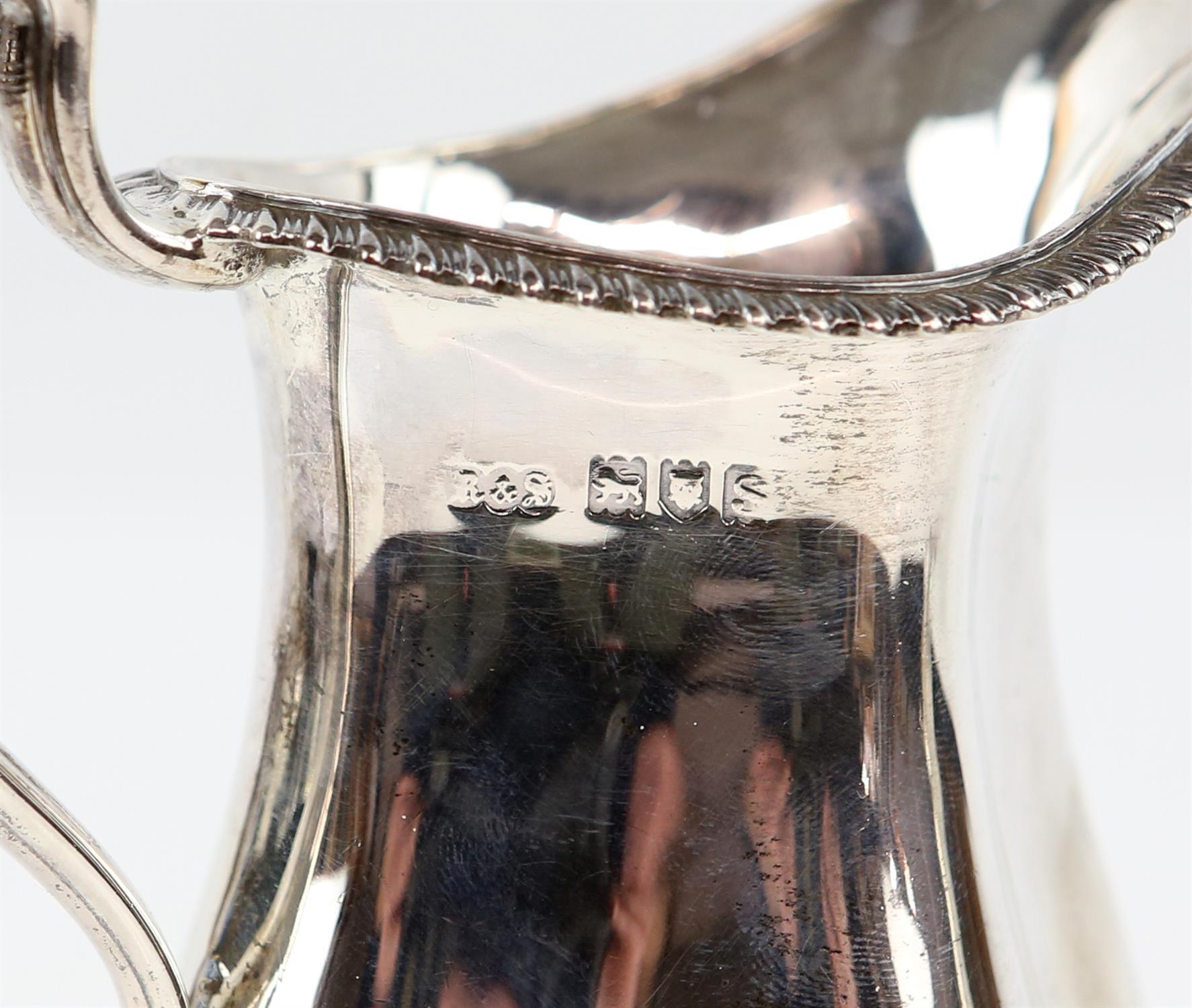 Four piece silver tea and coffee service of fluted diamond shape comprising Coffee Pot, Tea Pot, - Image 9 of 10
