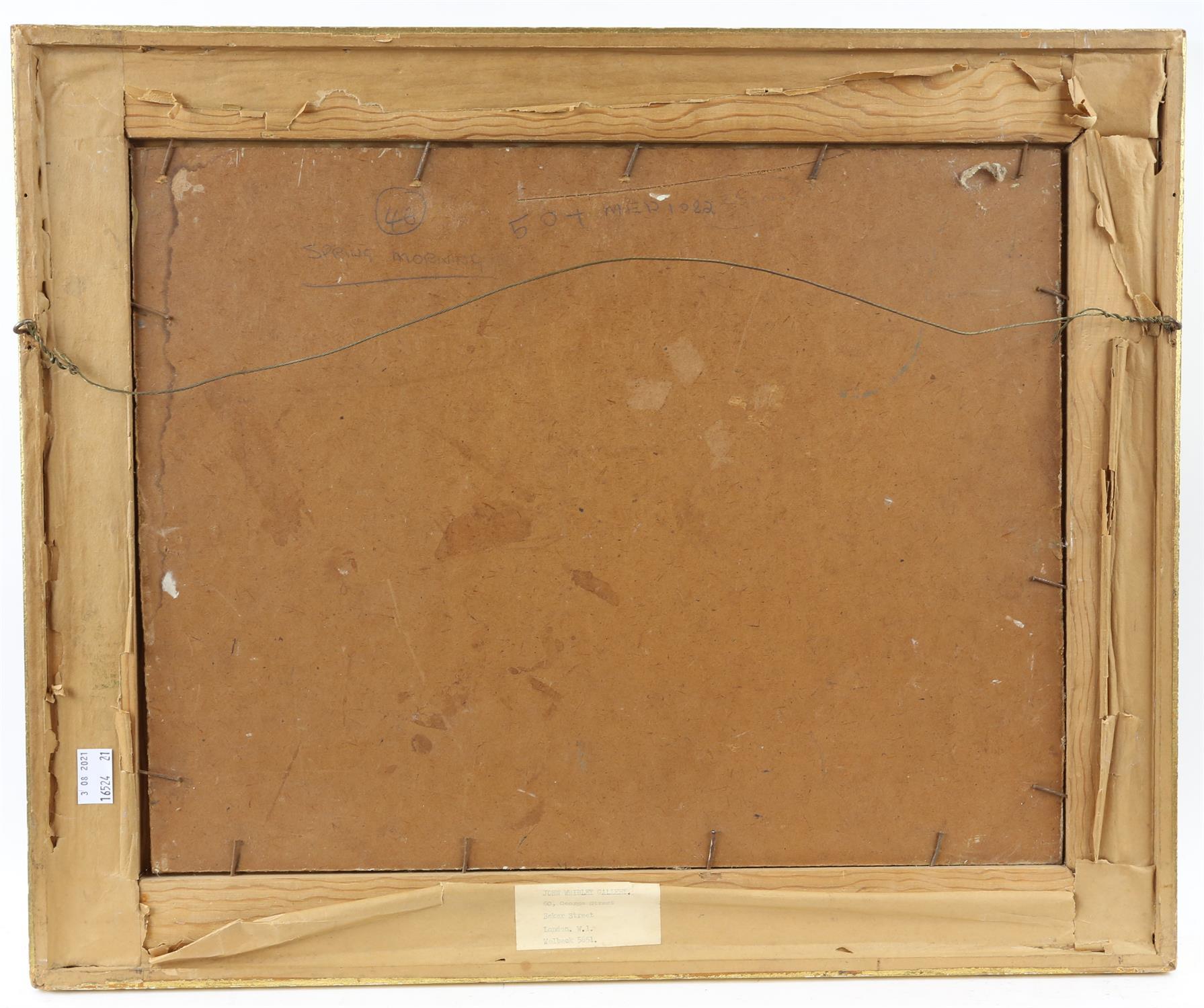 Peter Noel Perkins, abstract landscape. Oil on board. Signed lower left. Framed. Image size 33 x - Image 3 of 7