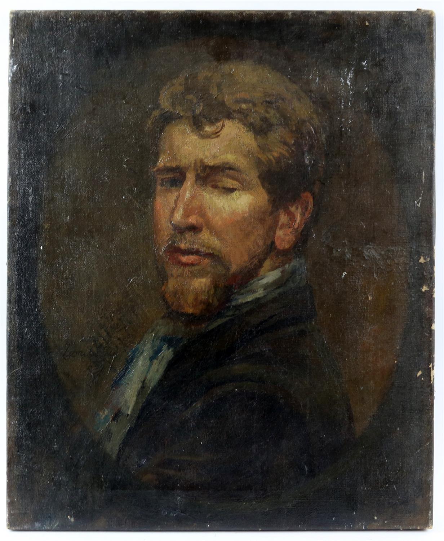 § Lionel Ellis (1903-1988). Portrait of a man, thought to be a self-portrait. Oil on canvas 1937.