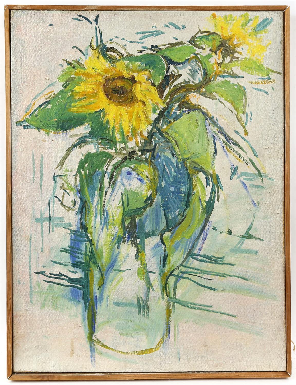 Peter Noel Perkins, abstract landscape. Oil on board. Signed lower left. Framed. Image size 33 x - Image 6 of 7