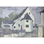 AMENDED DESCRIPTION Clifford Charman, (British 1910-1992), 'The House on the corner, Kent',