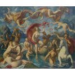 § Lionel Ellis.(1903-1988) The Arrival of Venus. Oil on canvas, unsigned. 78 x 90cm.