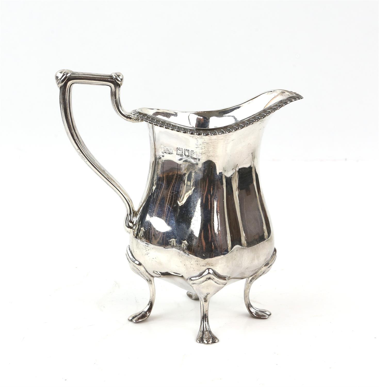 Four piece silver tea and coffee service of fluted diamond shape comprising Coffee Pot, Tea Pot, - Image 8 of 10