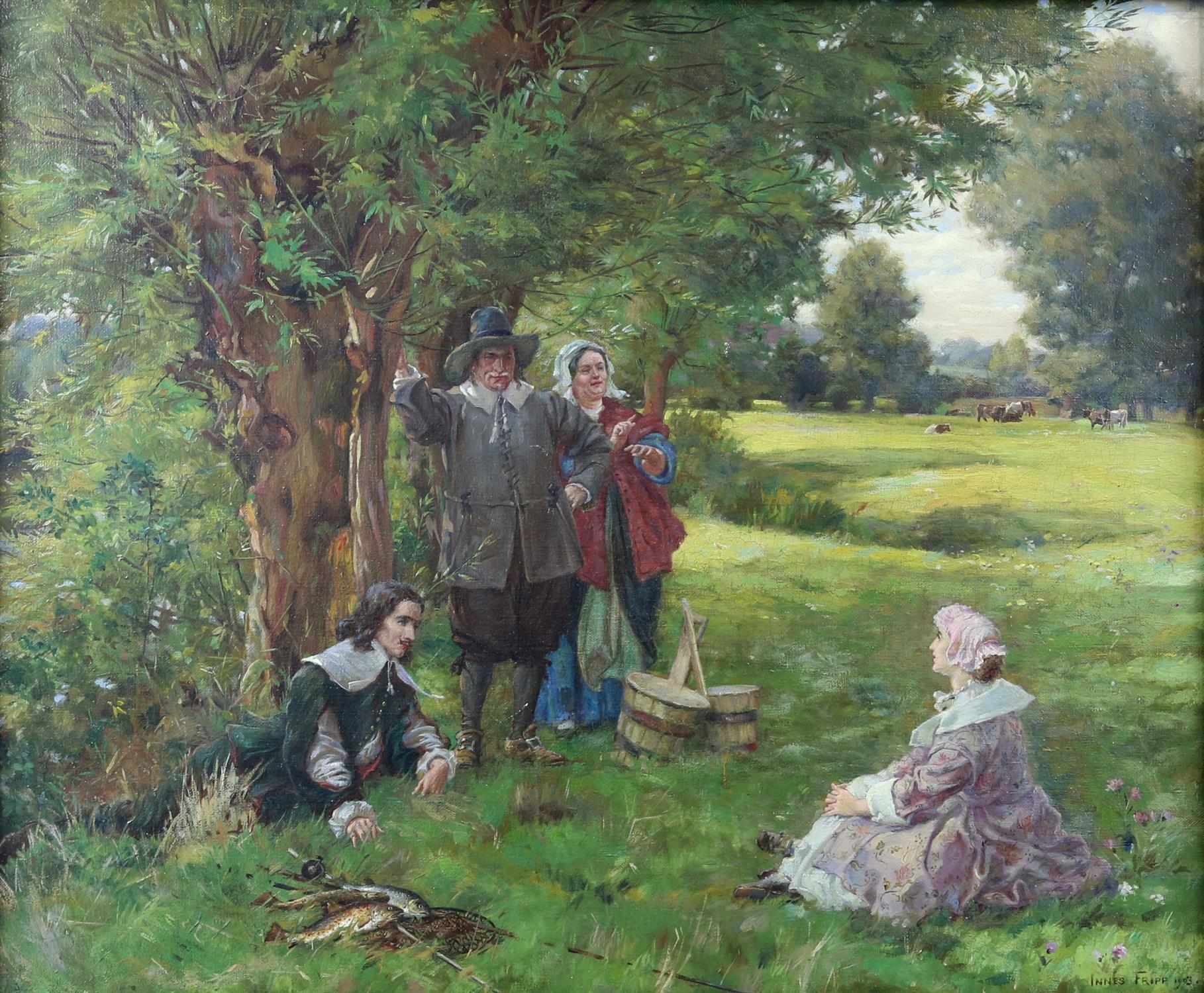 Henry Charles Innes Fripp, British 1867-1963, The Fishing Party, signed and dated 1903,