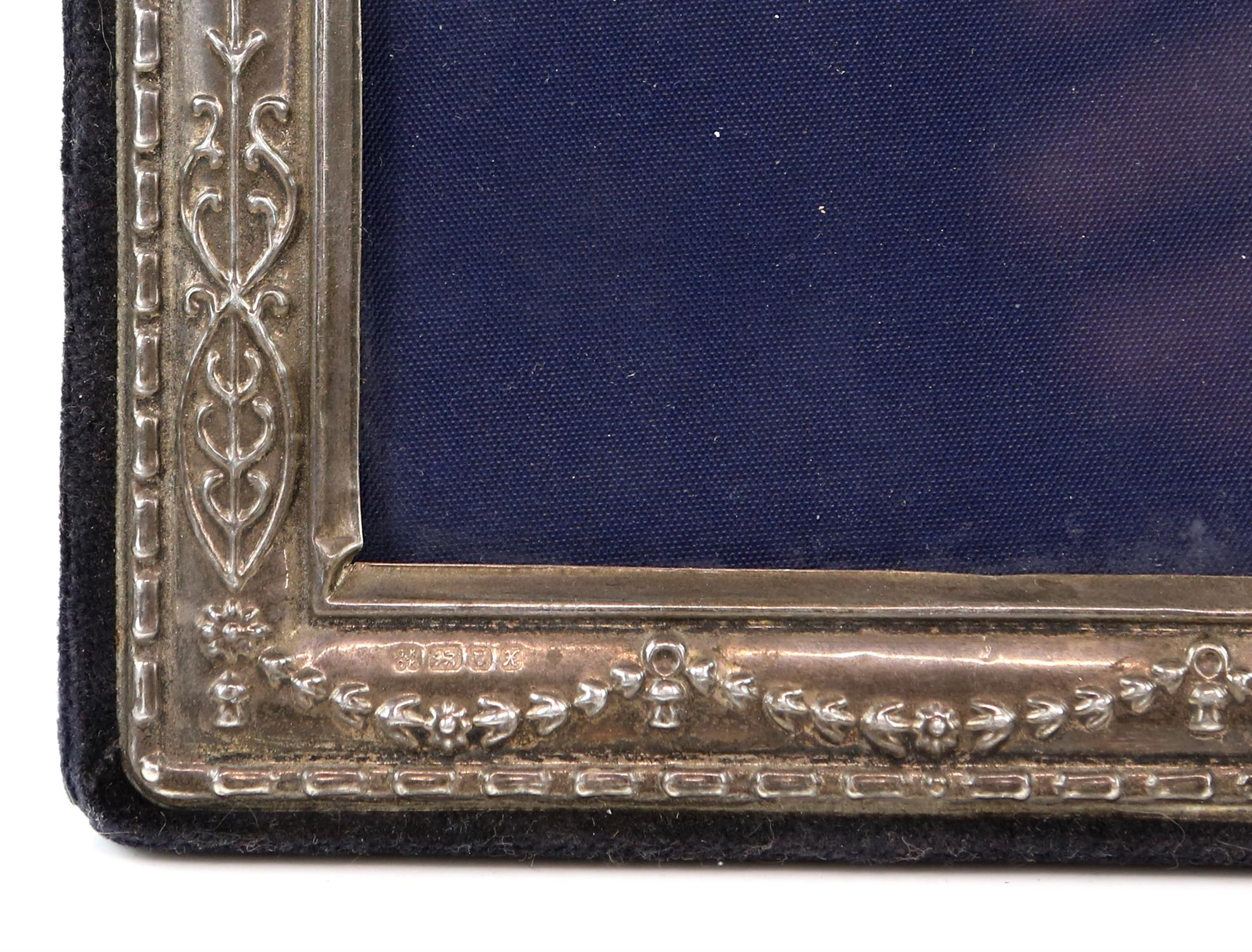 Three silver photo frames of varied designs and dates - Image 2 of 2