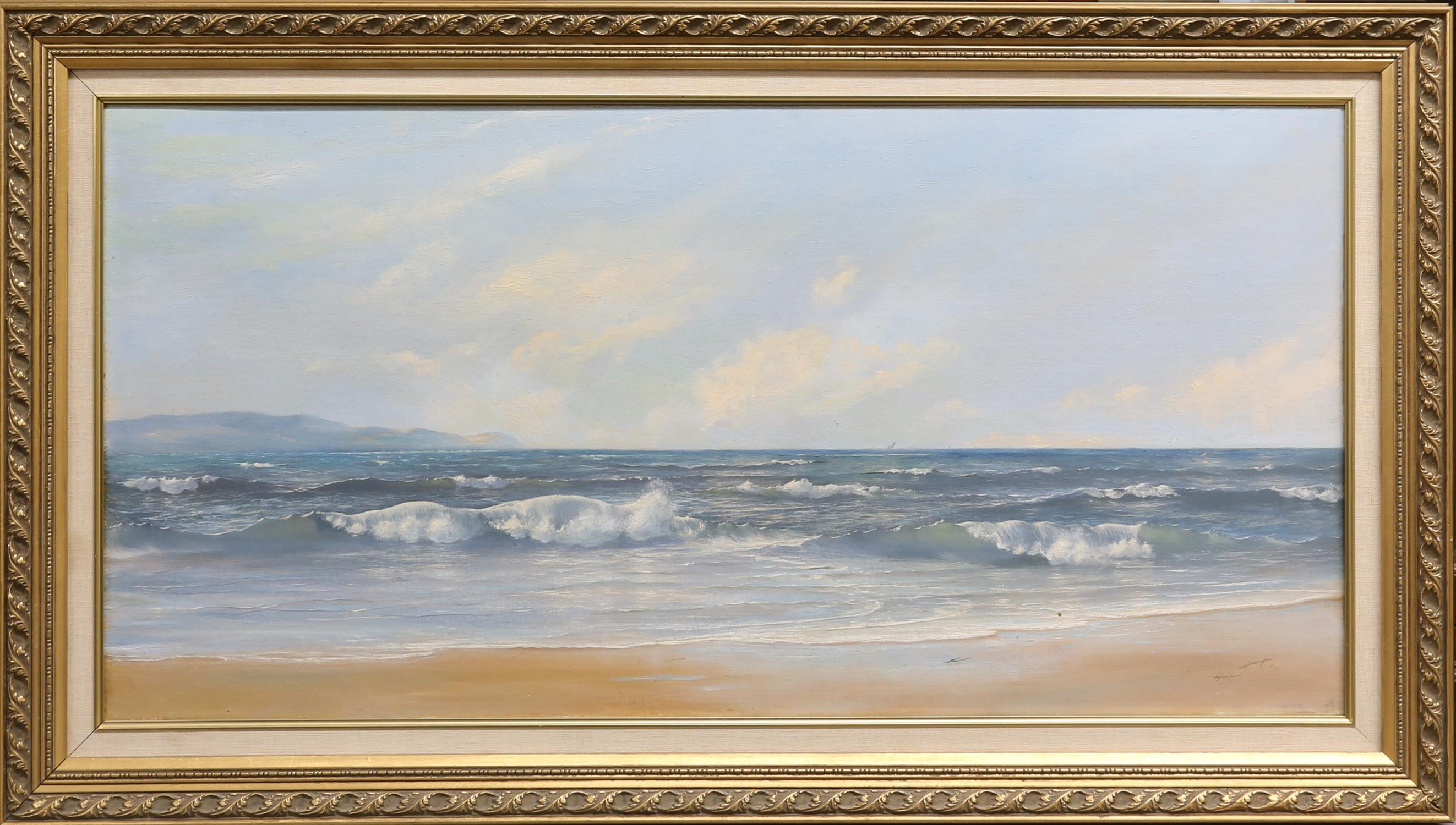 H. H. Stanton (British, twentieth century), seascape. Oil on canvas. Signed lower right. Framed. - Image 2 of 3