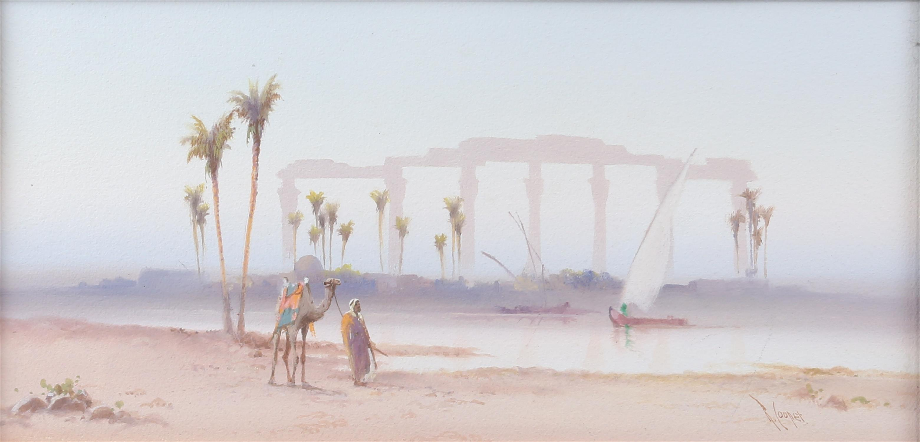 REVISED ESTIMATE Reginald Cooper, (early 20th century), Egyptian scene with a man with a camel and