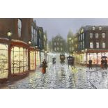 John Bampfield (British b.1947) Paris street scene, signed, oil on canvas, 50 x 75cm,