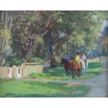 REVISED ESTIMATE Gyrth Russell, (British 1892-1970), 'Pony Riders, Dinas Powys', signed,