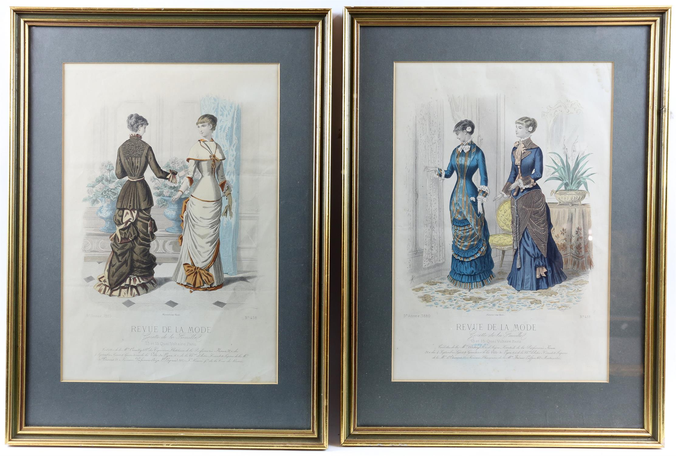 Collection of nineteenth-century French hand-coloured fashion prints, including 'Revue de la mode', - Image 5 of 5