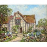 Thomas Edward Francis (British act.1899-1912). 'Shakespeare's Birthplace'. Oil on board.
