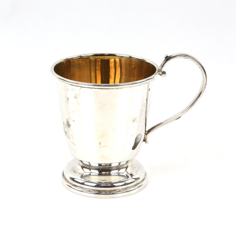 Silver mug/cup inscription free, by RNP, Birmingham, 1982