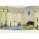"""Sir John Gielgud, British 1904-2000, 'Set design for """"A Room with four Walls"""" at the Apollo"""